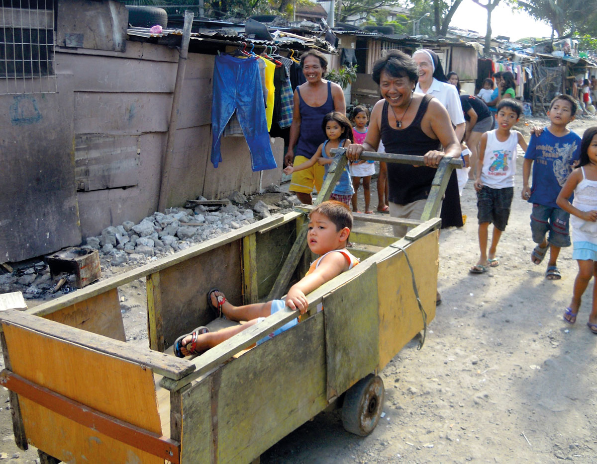 Bambino nel carretto