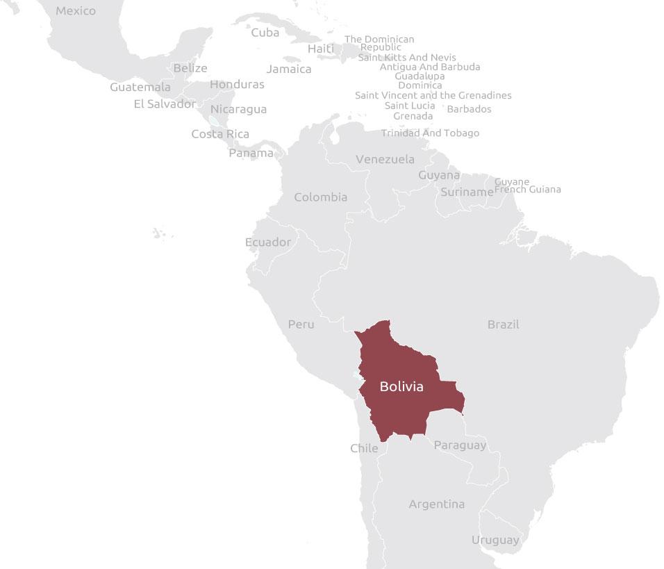 Mappa Bolivia